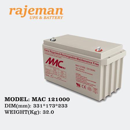 باتری فاراتل 100 آمپر MAC