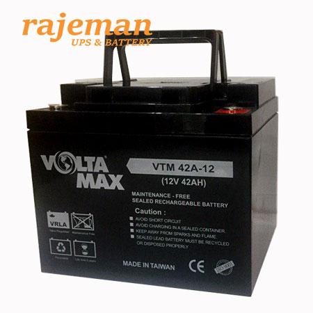 باتری-۱۲-ولت-۴۲-آمپر-ولتامکس-مدل-VTM42-12